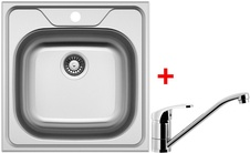 Set Sinks CL4806VPRCL dřez Classic 480 V + baterie Pronto chrom